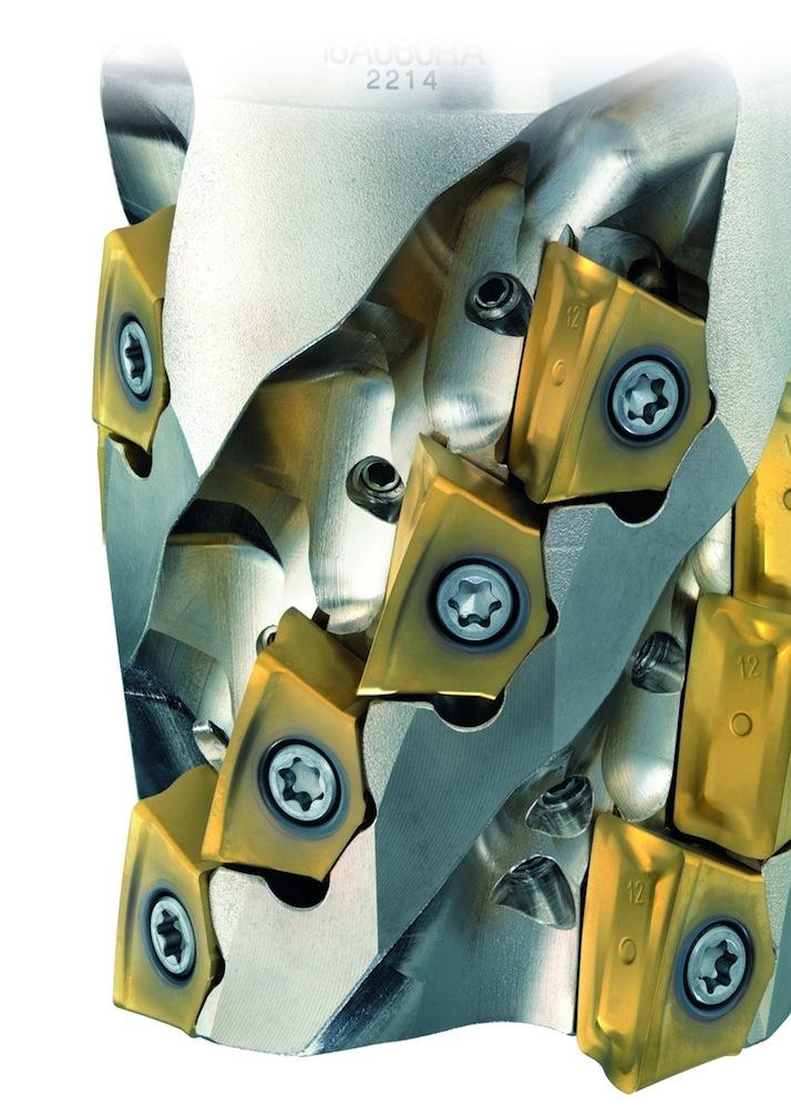 Titaan frezen met uitwisselbare nozzles in snijplaatjes
