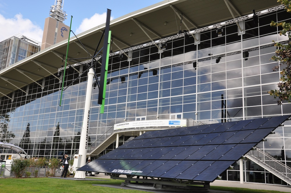 Gildemeisterfabriek Bielefeld draait op zonne- en windenergie