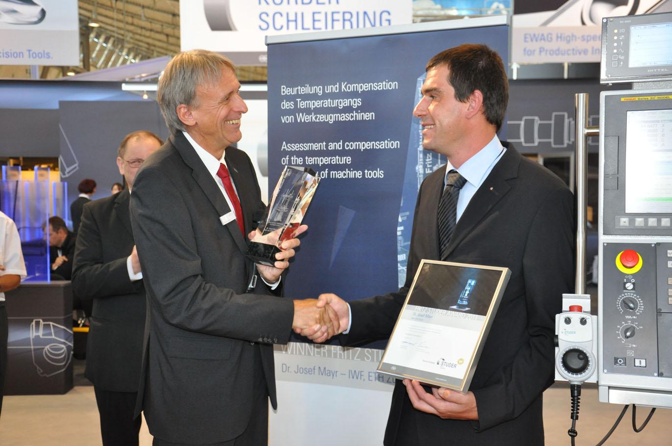 Fritz Studer Award 2011 voor Zwitserse onderzoeker
