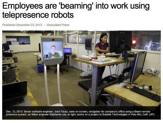 Beam me up: robot laat je overal zijn