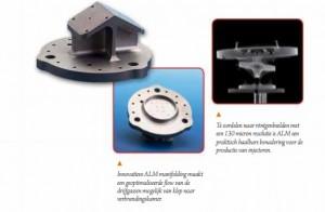 Twee producten die LayerWise samen met ESA heeft gemaakt met additive manufacturing (foto: LayerWise)
