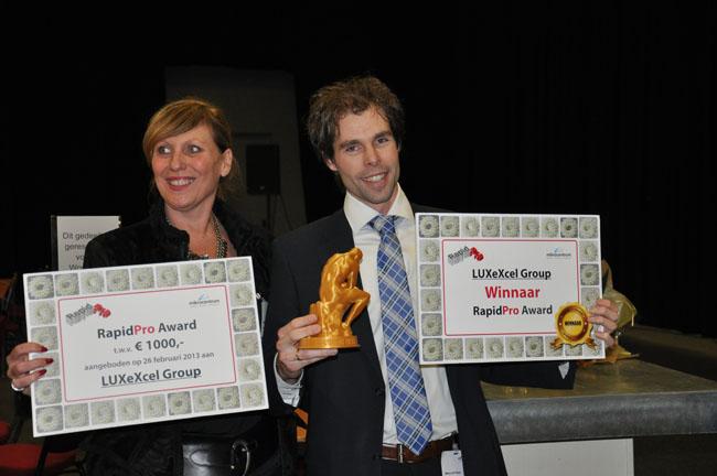 Luxexcel wint eerste RapidPro Award