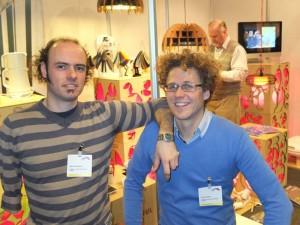 Bart Grimonprez (l) samen met Oliver Dewolf van Howest, dat voor de invulling van het congres op de eerste dag tekent.