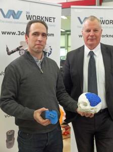 Sander Smit (links) en Henk Anema: 3D printen van duizenden eindproducten per maand.
