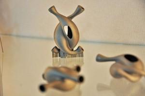 Een voorbeeld van een metalen 3D geprint onderdeel, gemaakt op een machine van Renishaw.