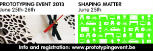 Shaping Matters is een expositie tijdens het tweedaagse Prototyping Event in Kortrijk.
