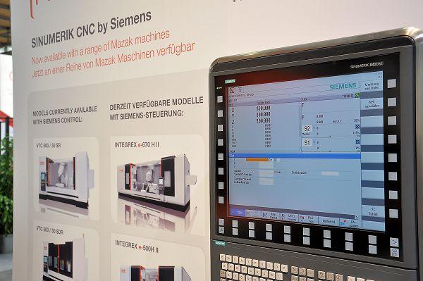Mazak levert op enkele typen nu ook de Sinumerik 840D sl besturing.