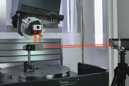 Met een extra kit van Renishaw kun je eenvoudig de assen van je machine controleren op nauwkeurigheid.