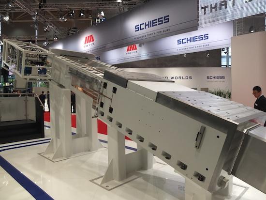 Een ram van Schiess, nu onderdeel van de Chinese groep.