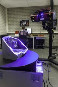 De 3D laserscanner die onlangs in gebruik is genomen zorgt voor kortere doorlooptijden. (Foto: Eurotech Group)