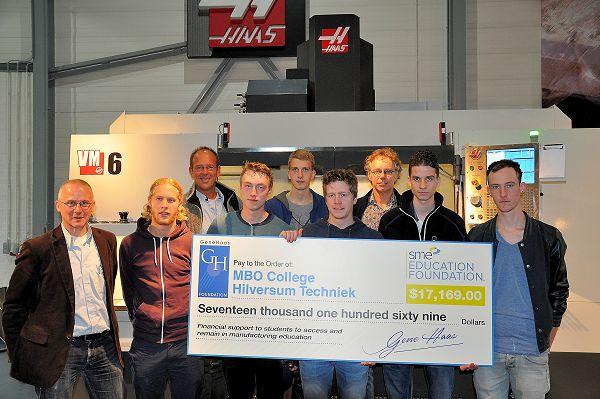 Hilversumse CNC-frezers in spé krijgen studiebeurs van Gene Haas Foundation