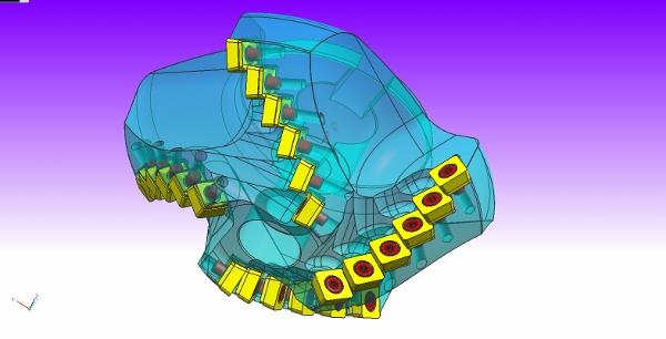 Een voorbeeld van een spiraalvertande frees.