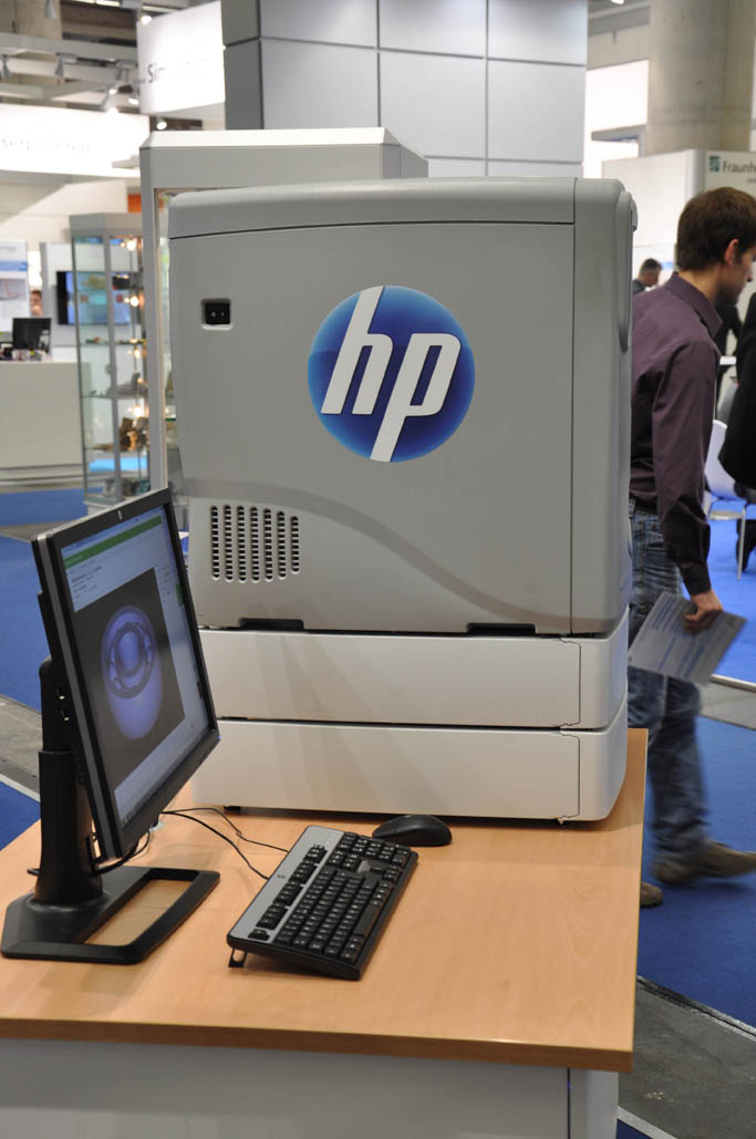 De printer die HP op EuroMold 2011 toonde.