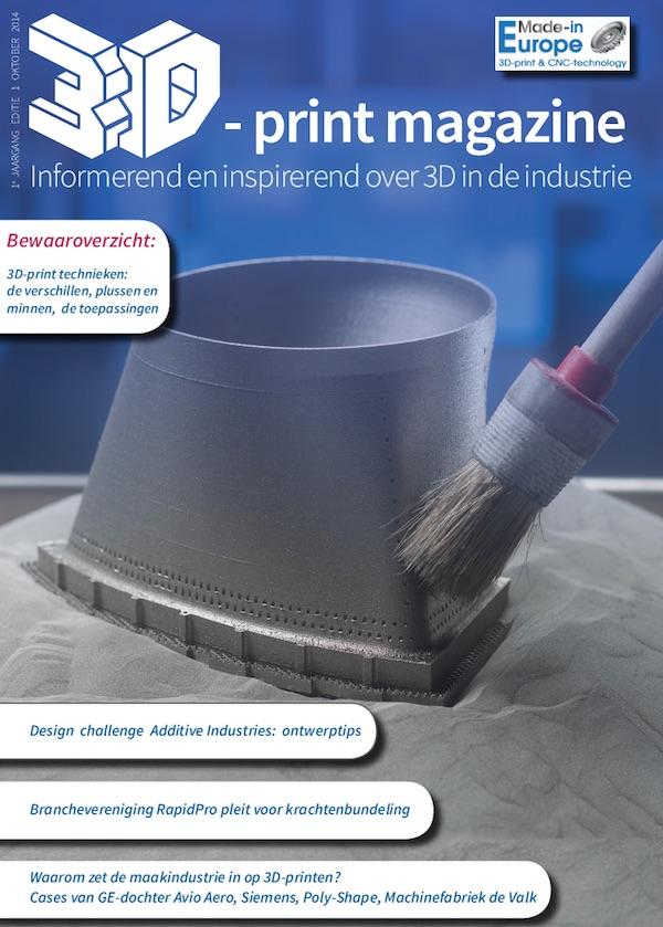 Eerste editie 3D-print magazine voor de maakindustrie
