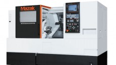 Een van de nieuwe Mazak-machines die gedemonstreerd worden is de QTSmart 200.