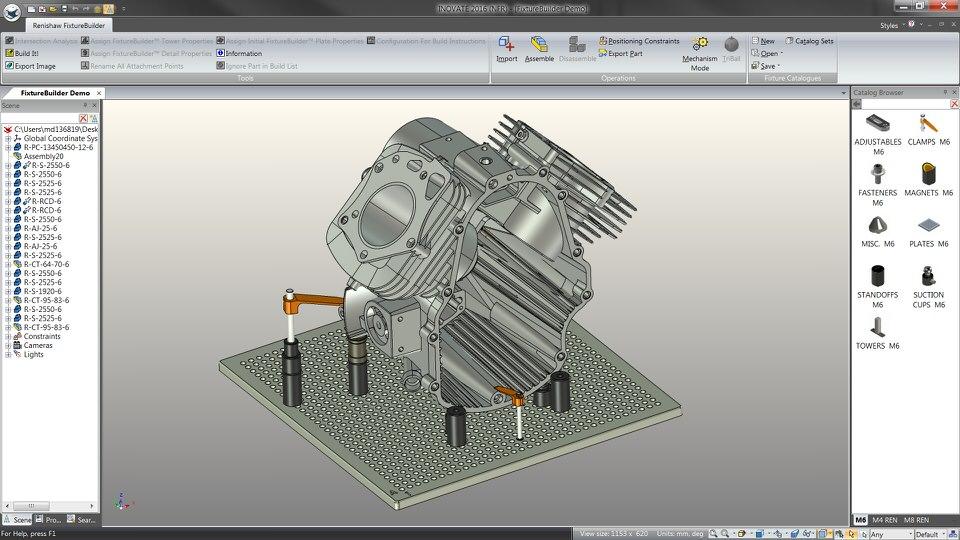 Renishaw Fixture-Builder modelleert opspanningen voor meetsystemen