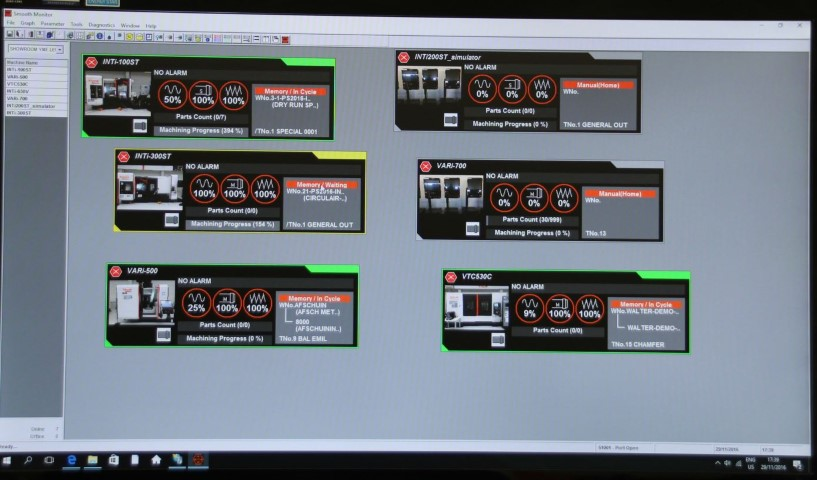 Smart industry op huisshow Mazak met Smooth Monitor