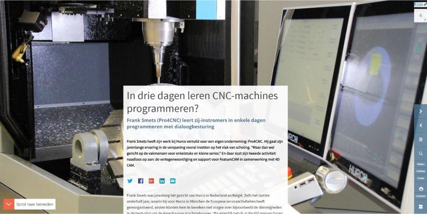 In drie dagen leren CNC-machines programmeren?