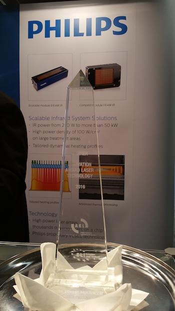 De internationale innovatie award onderstreept het belang van deze ontwikkeling die Philips realiseert in lasertechnologie.