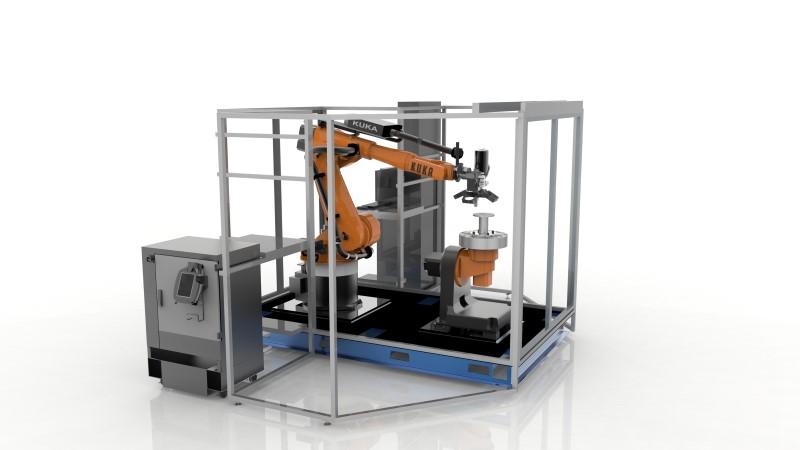 De complete 3D printcel van Stratasys en Siemens.